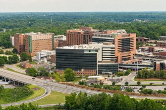 Aerial photographs of Wake Forest Baptist Medical Center