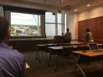 Koran presenting at 2017 PCa Summer Research Symposium