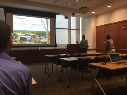 Koran presenting at 2017 PCa Summer Research Symposium